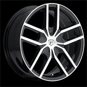 PINNACLE-P78 VANE BLACK/MACHINE 20X7.5 5X4.5/5X4.75 +40